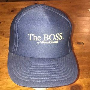 """SWEET Vintage """"The Boss"""" Trucker Flat Bill Hat"""